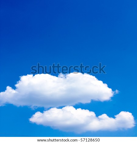 abstract clouds in the blue sky - stock photo