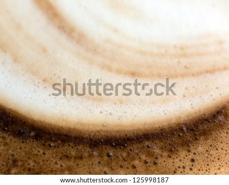 Abstract Coffee foam closeup - stock photo