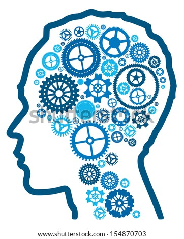abstract cognitive intelligence. Illustration representing cognitive intelligence and the human brain.  - stock photo