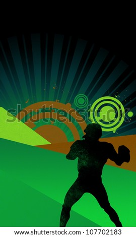 Abstract color american football background with space - stock photo