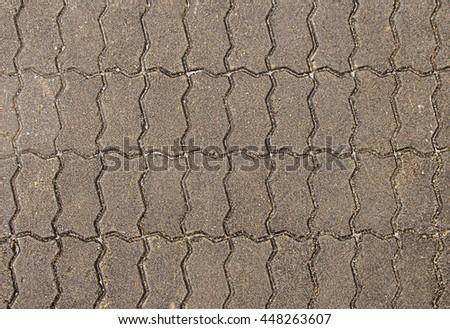 abstract color brick floor in the walkway - stock photo