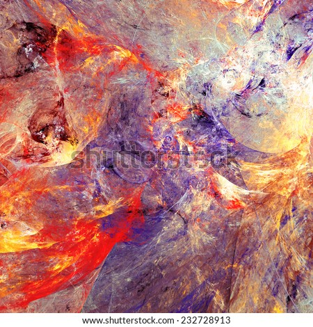 Abstract color dynamic background with lighting effect. Fantasy artistic bright painting texture for creativity design. Fine decoration for desktop, poster, cover of your booklet, flyer. Fractal art - stock photo