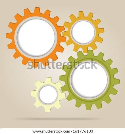 Abstract color gear wheels. Design template - stock photo
