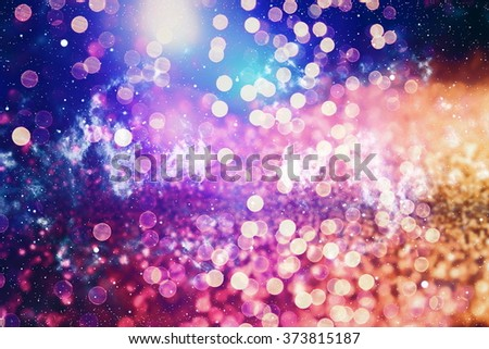 Abstract color lights on background - stock photo