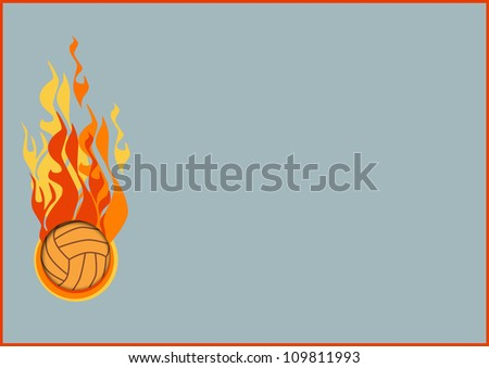 Abstract color Volleyballs or handball background with space - stock photo