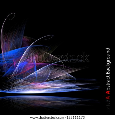 Abstract colored lines illustration. - stock photo