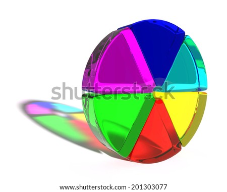 Abstract colored shape - stock photo
