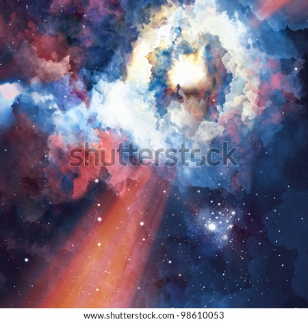 Abstract colorful background. Great galaxy - stock photo