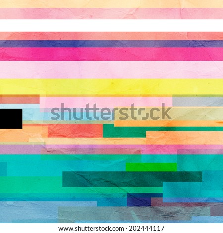 abstract colorful background of geometric elements  - stock photo