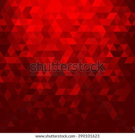 Abstract colorful  background. Red triangle shape.Red background with triangle. Mosaic red background. Red geometric pattern. Red light. Holiday red triangle background. Trendy red triangle background - stock photo