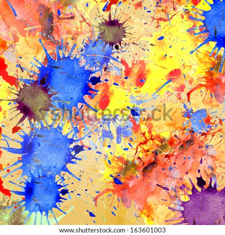 Abstract colorful background. Splash watercolor background - stock photo