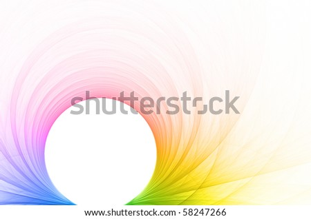 Abstract colorful background with circle - stock photo