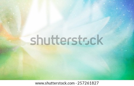 Abstract colorful background with white ship fantasy on watercolor paper - stock photo