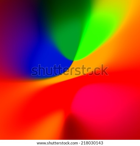 Abstract Colorful Blue Red Background - Fancy Creative Rainbow Colored Art - Blurred Elegant Colourful Illustration - Orange Blue Web Banner Backdrop - Simple Glowing Picture - Vivid And Vibrant - stock photo