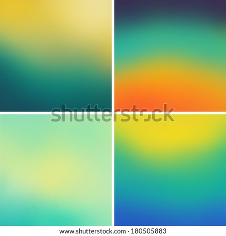 Abstract colorful blurred backgrounds set 11 - stock photo