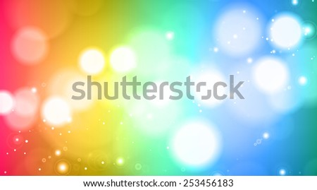 Abstract colorful blurred lights - stock photo