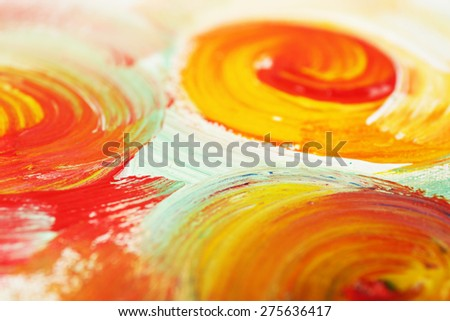 Abstract colorful brushstrokes as background - stock photo