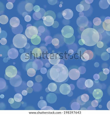 Abstract colorful bubble on blue background - stock photo