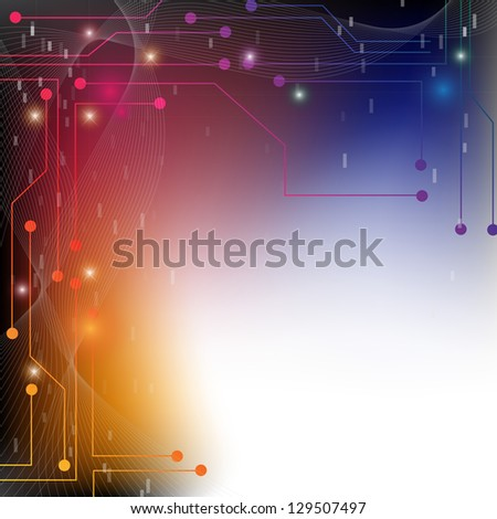 Abstract Colorful Chip Background - Graphic Design Useful For Your Design - stock photo