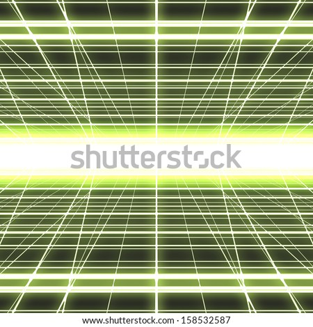 Abstract colorful digital glowing cyber grid background. - stock photo