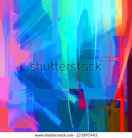 Abstract colorful fantasy art background - stock photo