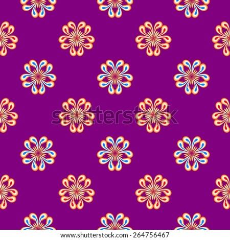 Abstract colorful floral pattern. Texture background. Seamless illustration. - stock photo