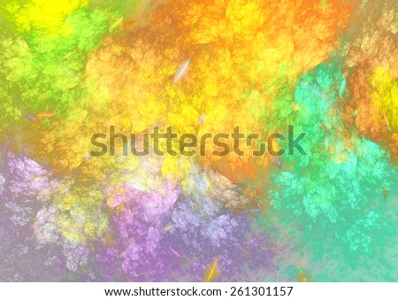 Abstract colorful fractal background, psychedelic color explosion - stock photo