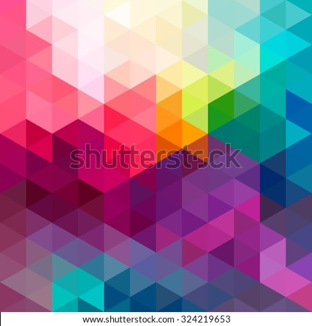 Abstract colorful geometric seamless pattern background with triangles and polygons shapes. Ideal for web and app template, book cover, fabric and gift wrap design.  - stock photo