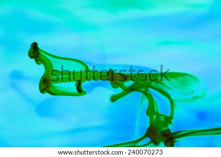 Abstract, colorful, ink shapes  - stock photo