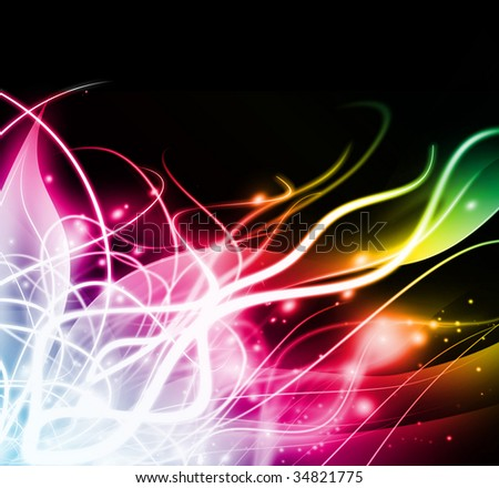 abstract colorful light background - stock photo
