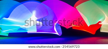 Abstract colorful light, great for use as a background. - stock photo