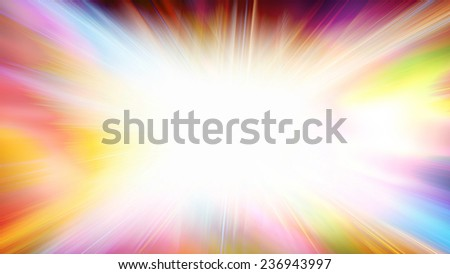 Abstract colorful motion blur background with bright flash. Raster - stock photo