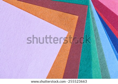 Abstract colorful origami paper pattern texture stacked layer respective, as background - stock photo