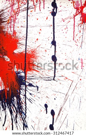 Abstract colorful paint splash isolated on white  - stock photo