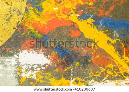 Abstract colorful painting for background. - stock photo