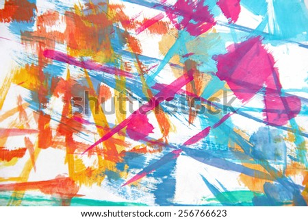 abstract colorful painting - modern art - stock photo