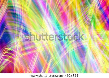 Abstract colorful rainbow and lights pattern design background - stock photo