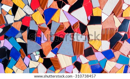 Abstract Colorful Triangle Tile Glass Background Texture - stock photo