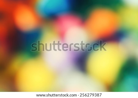 Abstract colorful vivid bright blurry background, warm colors tone, sunny summer day, cinematic effect, toned with filters - stock photo