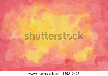 Abstract colorful watercolor background - stock photo