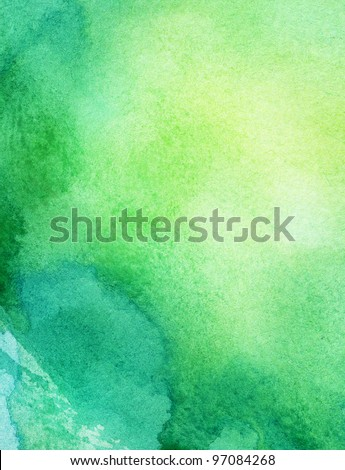 Abstract colorful watercolor background. - stock photo