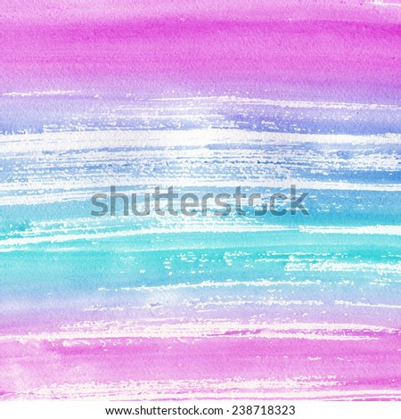 Abstract colorful watercolor blot background. Pastel aquarelle colorful texture. Hand painting striped aquarelle. - stock photo