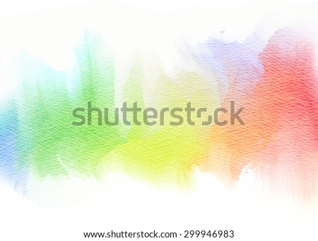 Abstract colorful watercolor for background. - stock photo