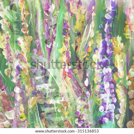 Abstract colorful  watercolor handmade painting. Floral background - stock photo