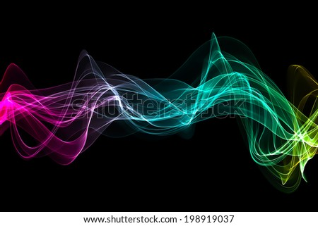 abstract colorful wave - stock photo