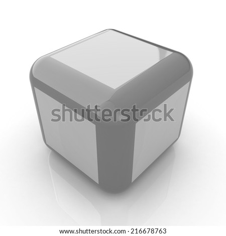 Abstract colorfull block 3d - stock photo
