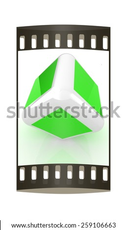 Abstract colorfull block 3d. The film strip - stock photo