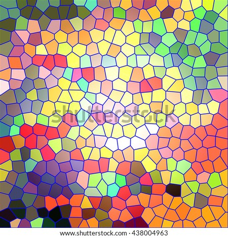 Abstract coloring background of the sunrise gradient with visual stained glass    effects,good for your idea design - stock photo