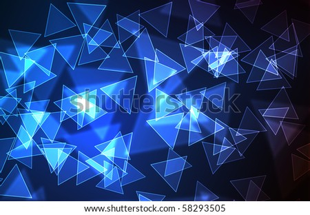 abstract colors background with triangles - stock photo