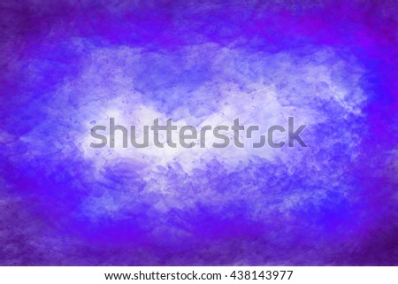 Abstract colourful watercolour background in shades of blue and purple - stock photo